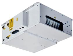 Ceiling dehumidifier for radiant systems