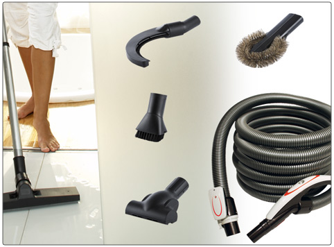 Complete central vacuum cleaner system