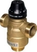 Thermostatic anti-burn mixer