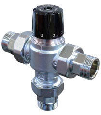Thermostatic mixer for hot water