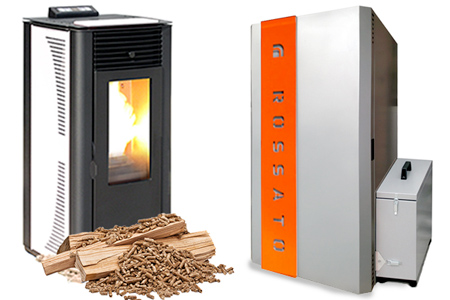 Boilers wood pellet stoves
