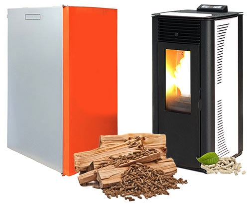 stoves and pellet boilers