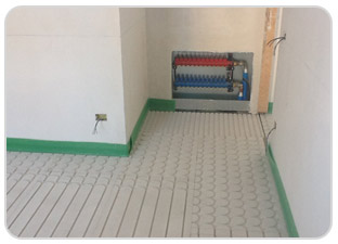 Underfloor heating dry