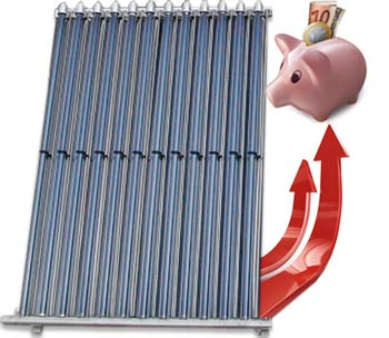 Savings with solar thermal vacuum