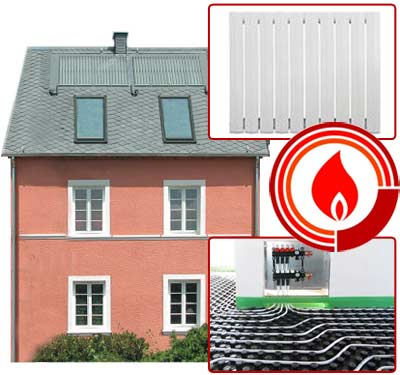 Additional heating or radiant heaters