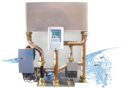 Estación de producción de agua caliente sanitaria.
