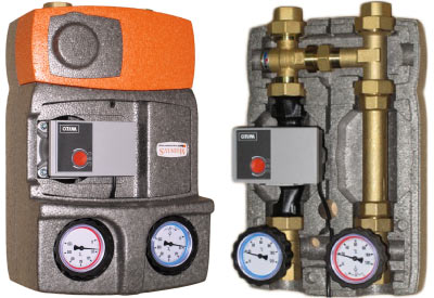 Pump unit for solid fuel boilers