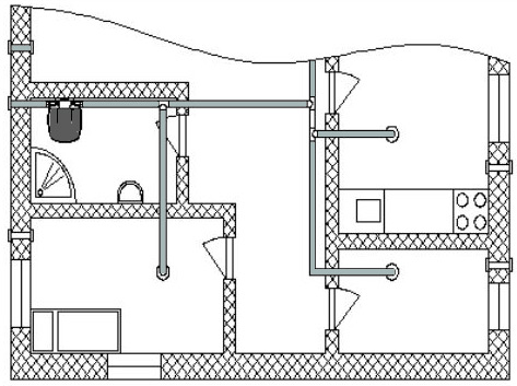 water heater installation diagram