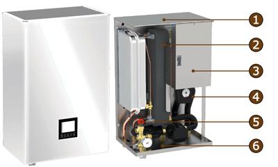 Wall heat pump diagram