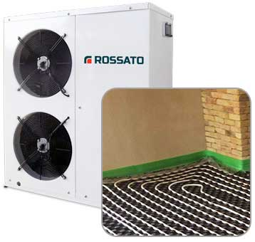 heat pump + radiant system