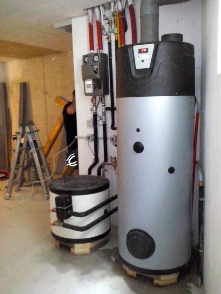 central de calor para agua caliente