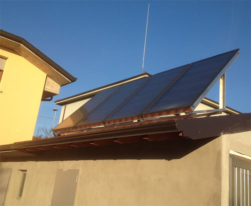 Solar thermal panels Lombardy