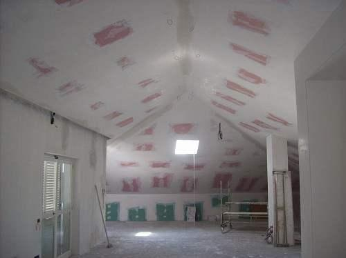 Grouting ceiling radiant wall