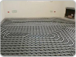 Underfloor heating in house
