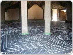 Underfloor heating for church