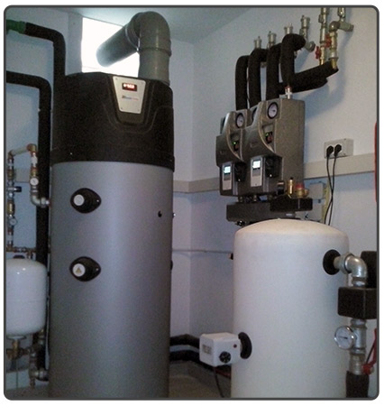 DHW heating and cooling system