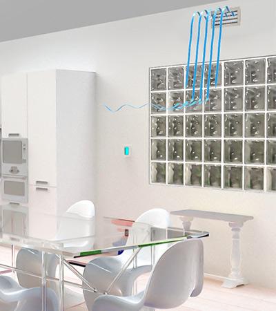 ventilación con aire acondicionado