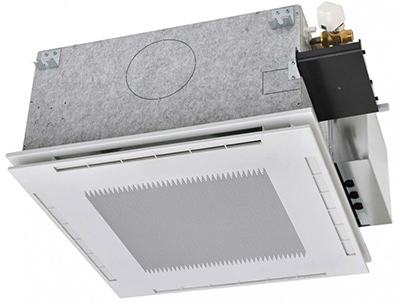 Recessed ceiling fan coil unit