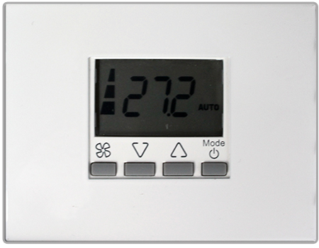 Thin fan coil display