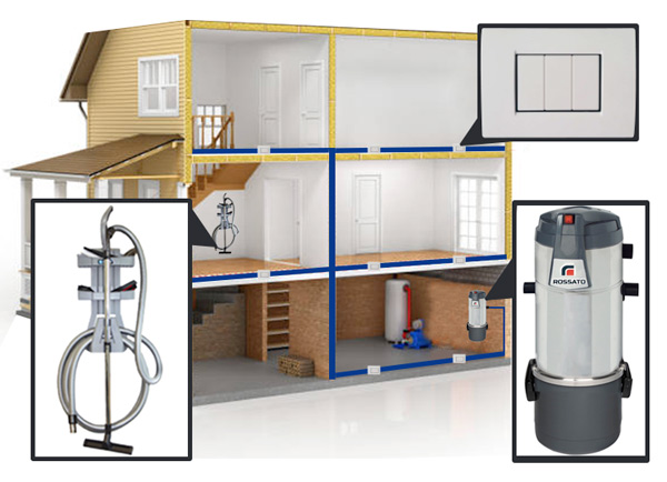 Central vacuum cleaner system
