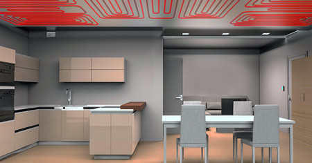 Radiant ceiling heating and cooling