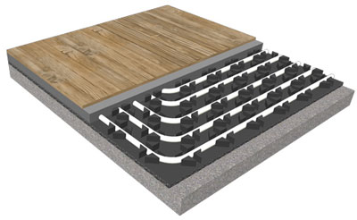 ECOfloor Tech Low Thickness radiant system