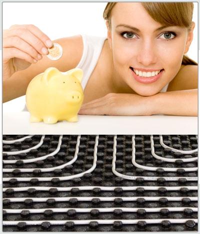 ahorro de sistemas radiantes