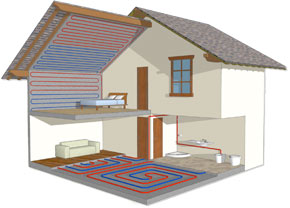 Underfloor heating systems at low cost