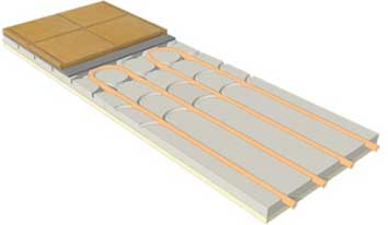 Lowered radiant system ECOFLOOR Slim