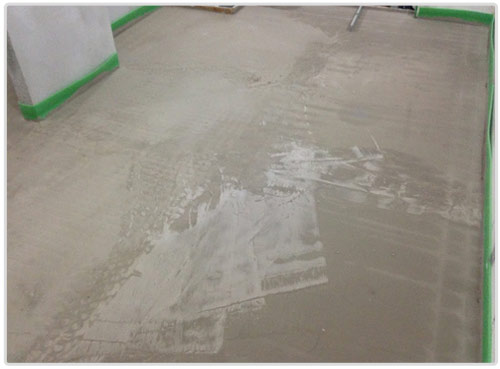 screed system lowered