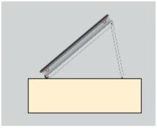 Solarpanel Flachdach