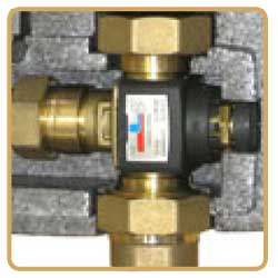 thermostatic mixing valve groups pumping