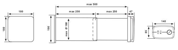 50 SR dimensiones