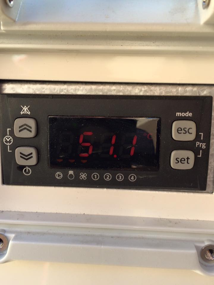 water temperature display
