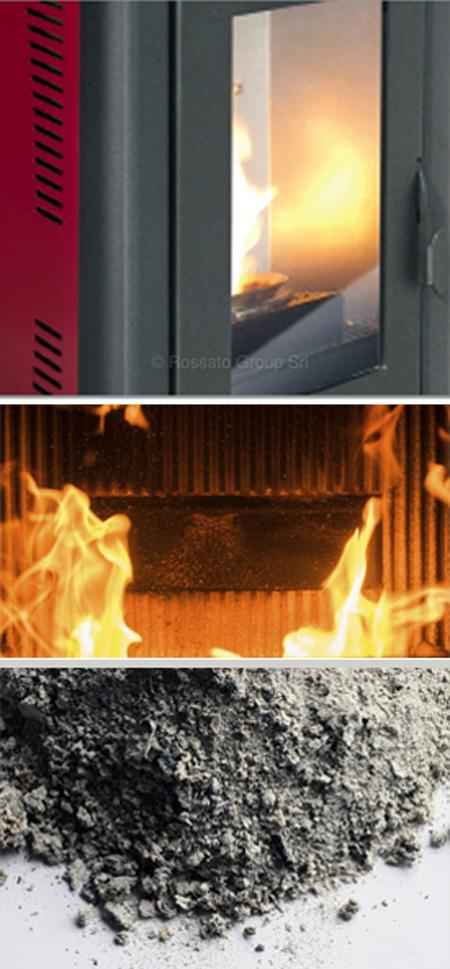 combustion de pellets de cendres
