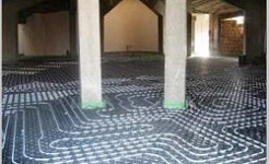 Underfloor heating for church
